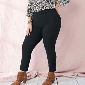 Style & Co. Black Stretch Skinny Pants Plus Size